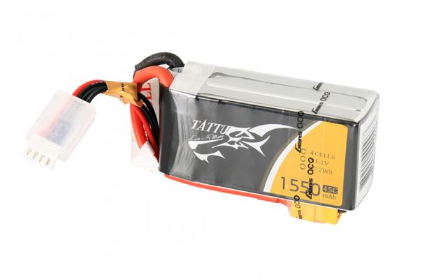 Tattu 1550mAh 14.8V 45C 4S1P FPV电池