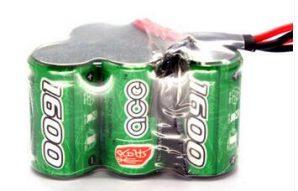 格氏ace镍氢电池2/3A芯_1600mAh6V品字形竞技遥控接收电池