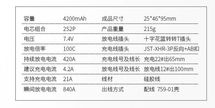 格氏车模锂电池规格参数