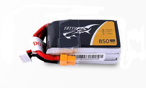 FPV通用无人机电池850mAh_TATTU锂电池