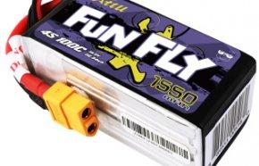 格氏ACE Funfly系列  4S高倍率FPV软包配件穿越机专用锂电池 1550mAh 100C 14.8V XT60