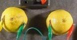 柠檬电池发电实验