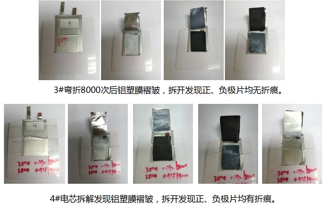 超薄锂电池测试结果拆解图