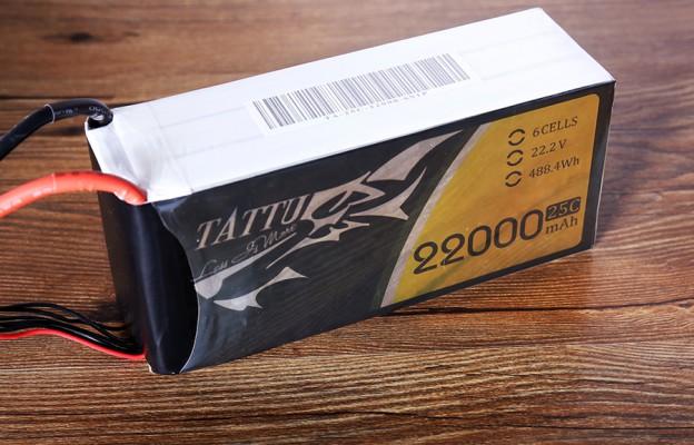 Tattu 22000mAh 25C 22.2V 通用无人机电池