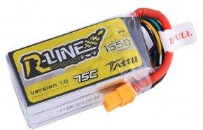 Tattu无人机竞赛电池_1550mAh 14.8V 75C 4S1P_FPV R-line系列电池