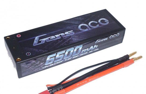 GENS ACE 6500mAh 50C 7.4V 2S1P 车模电池