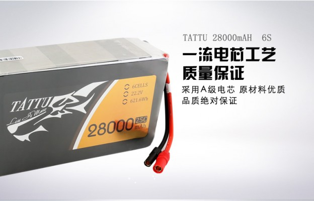 28000mAh无人机航拍电池 TATTU通用版电池